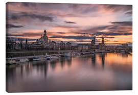 Lienzo  sunset Dresden - Achim Thomae