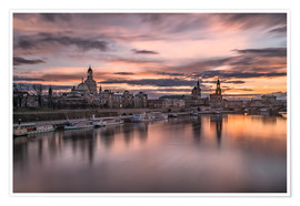 Póster  sunset Dresden - Achim Thomae