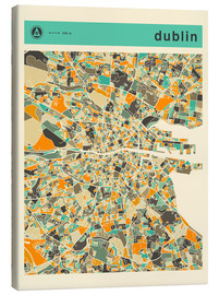 Lienzo  DUBLIN MAP - Jazzberry Blue