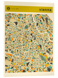 Cuadro de metacrilato  VIENNA MAP - Jazzberry Blue