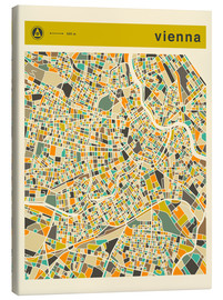 Lienzo  VIENNA MAP - Jazzberry Blue
