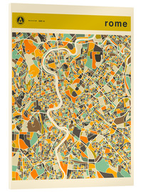 Cuadro de metacrilato  ROME MAP - Jazzberry Blue