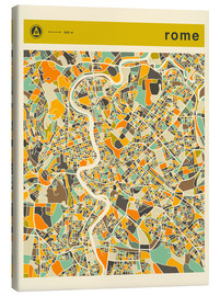 Lienzo  ROME MAP - Jazzberry Blue