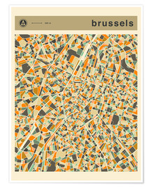 Póster BRUSSELS MAP