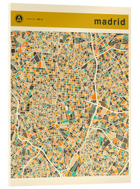 Metacrilato  Mapa de Madrid - Jazzberry Blue