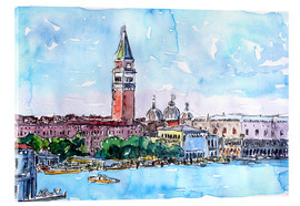 Cuadro de metacrilato  Venice Serenissima with St. Marks Bell Tower and Doge Palace - M. Bleichner