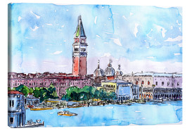 Lienzo  Venice Serenissima with St. Marks Bell Tower and Doge Palace - M. Bleichner