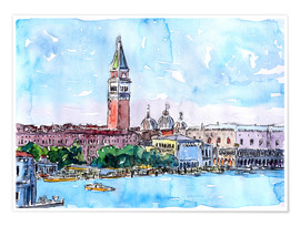 Póster  Venice Serenissima with St. Marks Bell Tower and Doge Palace - M. Bleichner