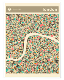 Póster LONDON MAP