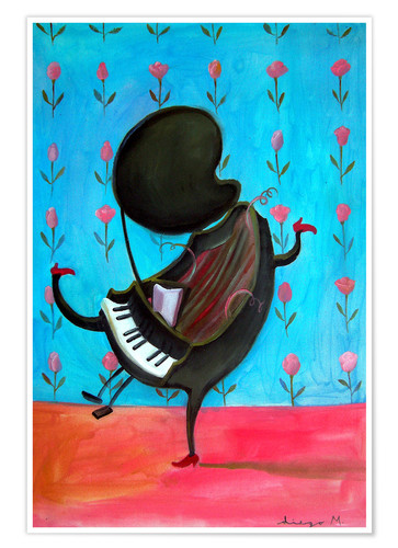 Póster Happy piano