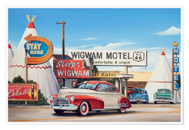 Póster Route 66 Wigwam Motel