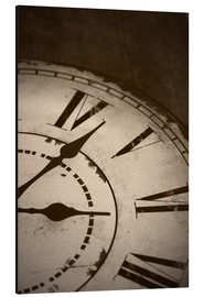 Aluminio-Dibond  picture of an old vintage clock