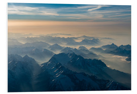 Cuadro de PVC  Zugspitze in the haze - Denis Feiner