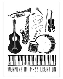Póster  Weapons Of Mass Creation - Music - Bianca Green