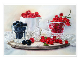 Póster summer berries