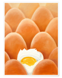 Póster Fresh farm eggs