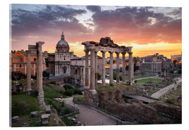 Metacrilato  Dramatic sunrise at the Roman Forum in Rome, Italy - Jan Christopher Becke