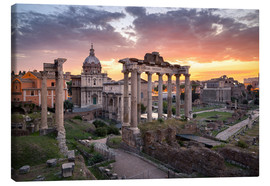 Lienzo  Dramatic sunrise at the Roman Forum in Rome, Italy - Jan Christopher Becke