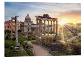 Metacrilato  Sunset at the Roman Forum in Rome, Italy - Jan Christopher Becke