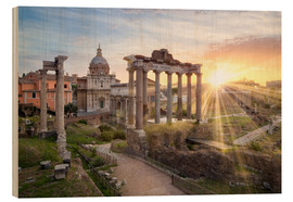 Madera  Sunset at the Roman Forum in Rome, Italy - Jan Christopher Becke