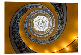 Cuadro de metacrilato  Spiral staircase in the Vatican Museum, Italy - Jan Christopher Becke