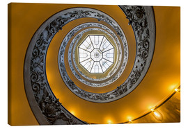Lienzo  Spiral staircase in the Vatican Museum, Italy - Jan Christopher Becke