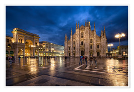 Póster Cathedral Square and Cathedral of Milan, Milano, Italy