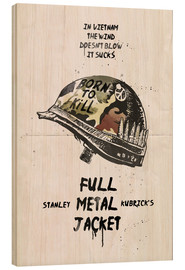 Cuadro de madera  Full metal jacket - 2ToastDesign