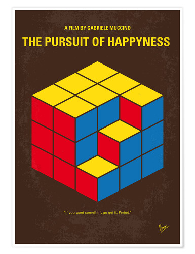 Póster No775 My The Pursuit of Happyness minimal movie poster