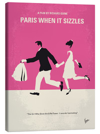 Lienzo  No785 My Paris When it Sizzles minimal movie poster - chungkong