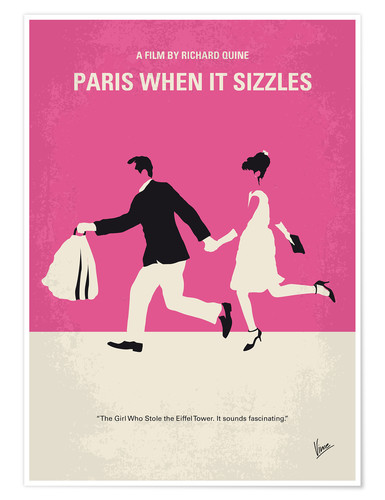 Póster No785 My Paris When it Sizzles minimal movie poster