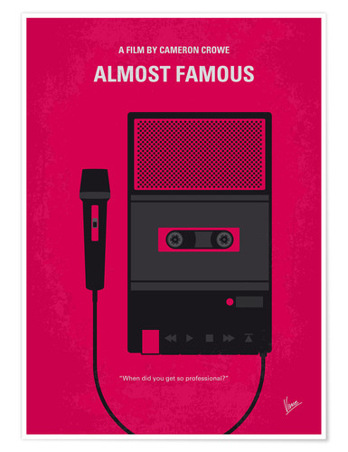 Póster No781 My Almost Famous minimal movie poster