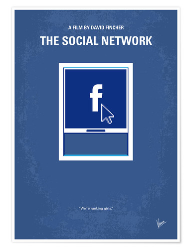 Póster No779 My The Social Network minimal movie poster