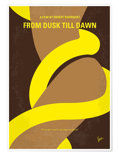 Póster No127 My FROM DUSK THIS DAWN minimal movie poster