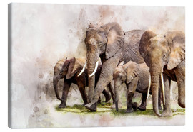 Lienzo  elephants - Peter Roder
