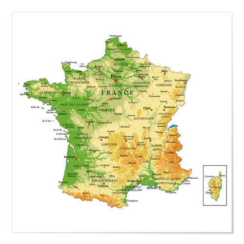 Póster Topography France