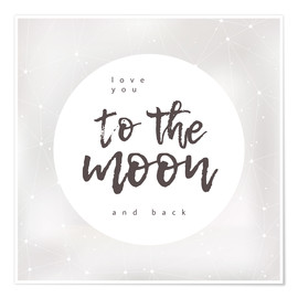 Póster  To the moon and back - Typobox