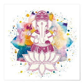 Póster  Ganesha in watercolors