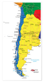 Póster Chile and Argentina