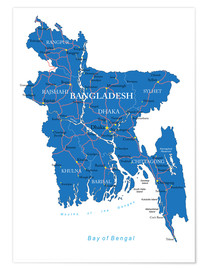 Póster map Bangladesh