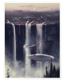 Póster UFO waterfall sl