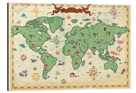 Cuadro de aluminio  treasure map - Kidz Collection