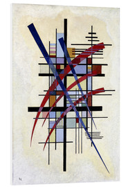 Cuadro de PVC  Sign with accompaniment - Wassily Kandinsky