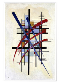 Póster  Sign with accompaniment - Wassily Kandinsky