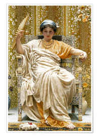 Póster  A Revery- A Look of Sadness on a Restful Face - Albert Joseph Moore