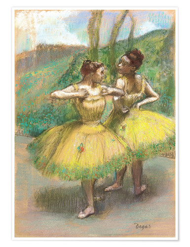 Póster Dancers with Yellow Dresses