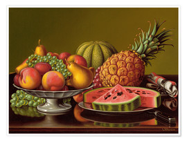 Póster  Still Life with Fruit - Levi Wells Prentice