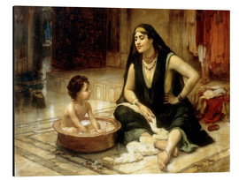 Cuadro de aluminio  Fellahin and Child - Frederick Arthur Bridgman