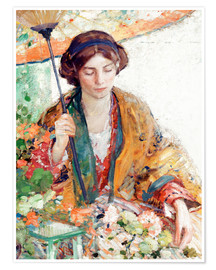 Póster Woman with Parasol