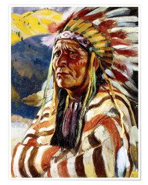 Póster  Chief Thundercloud - Walter Ufer